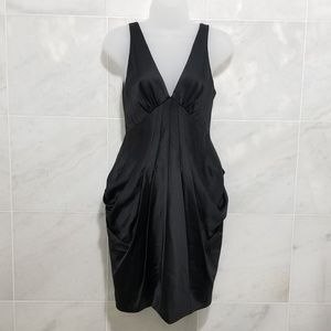 Bcbgmaxazria Dreaped Little Black Dress